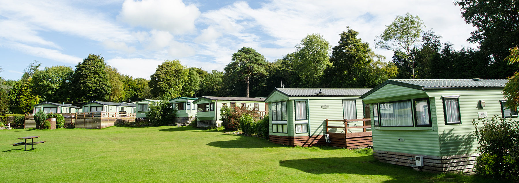 Static caravans at Fell end in Arnside and Silverdale