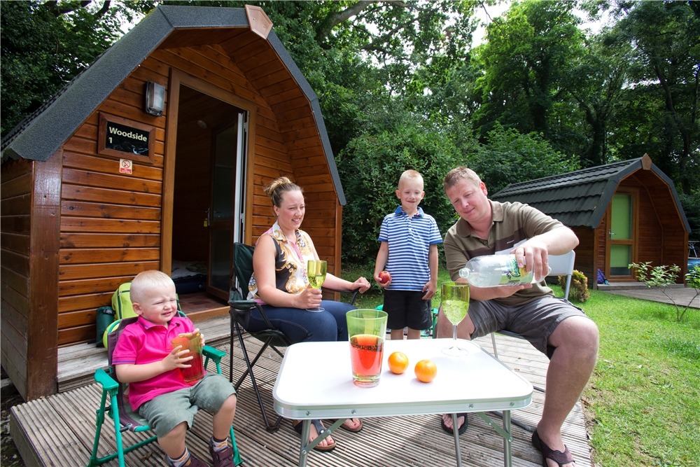 Camping Pod Decking Area