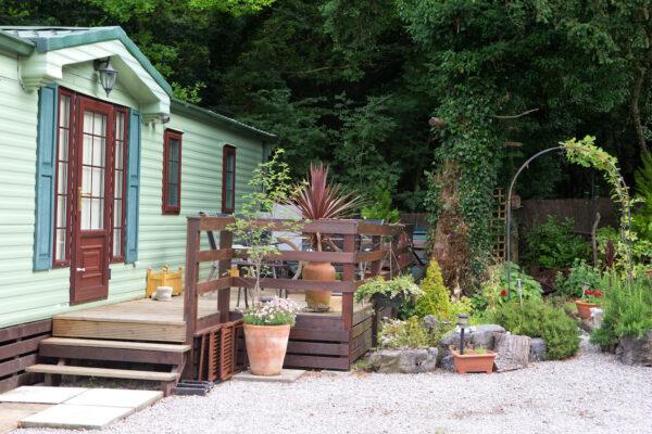 Holiday home with decking area at Fell End