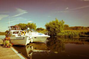 boats at silverhill holiday park, lincolnshire