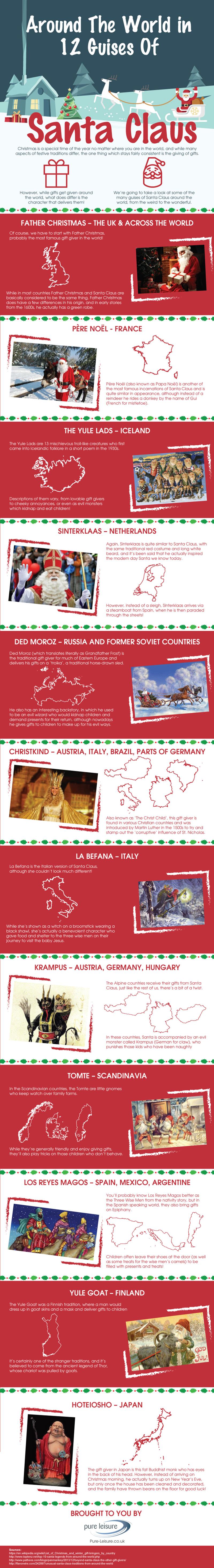 12 Guises Of Santa Claus