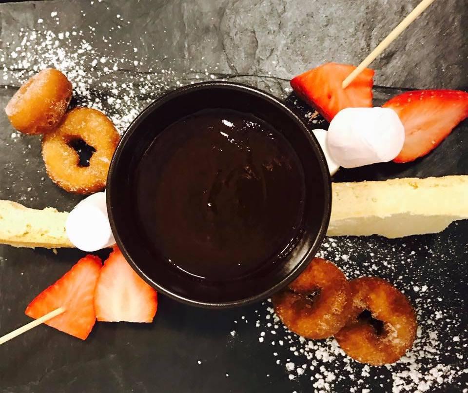 Fondue at the Steam Bistro, Coniston - lake district restaurants