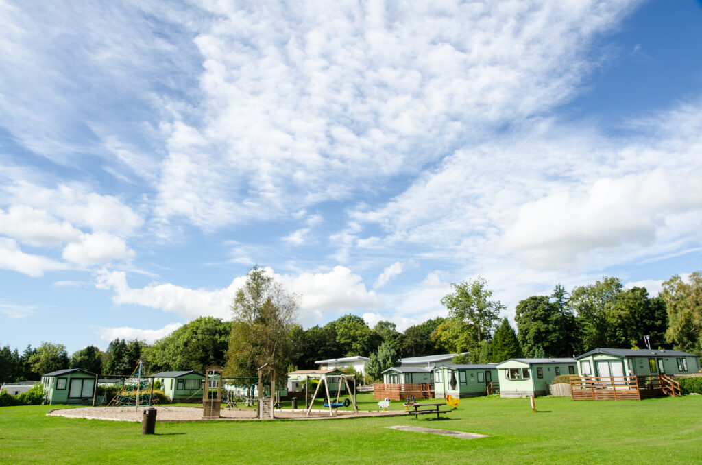 Play Area and Static Caravans at Fell End