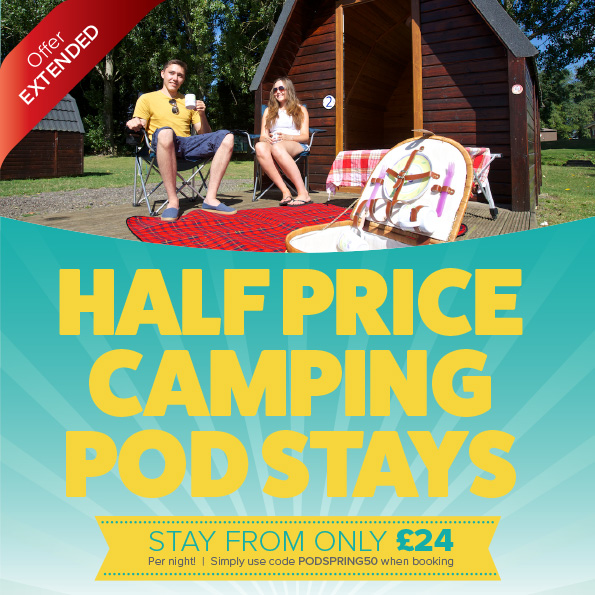 Half Price Camping Pod Stays