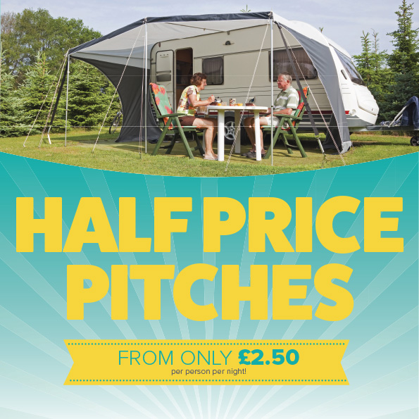 Half Price Touring and Camping Pitches