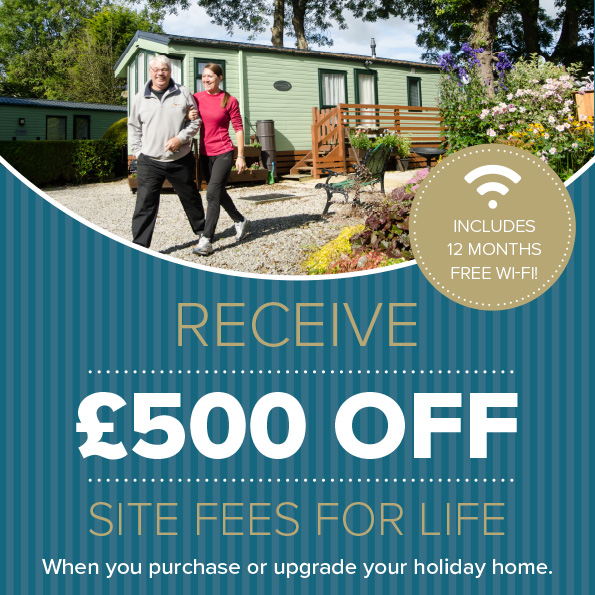 £500 off site fees for life!