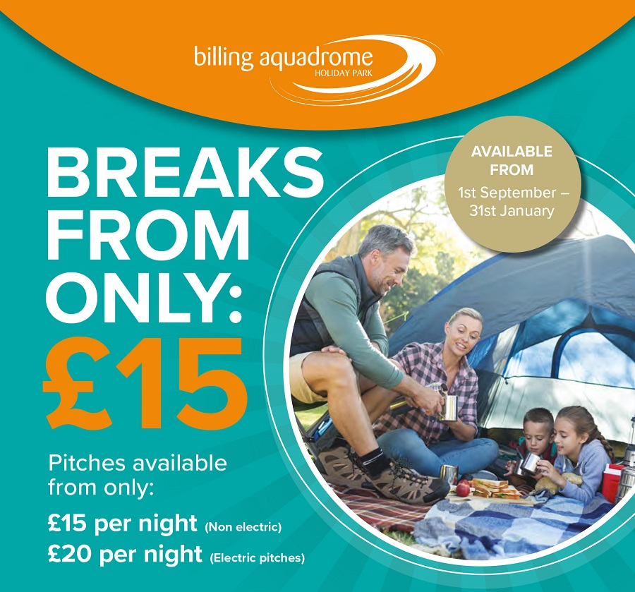 Breaks From Only £15 Per Night!