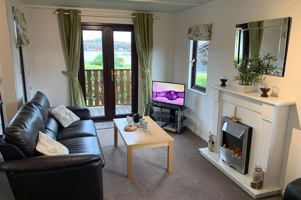 Arnside 1 Lodge Living Area