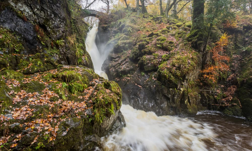 Aira Force waterfall in the Lake District